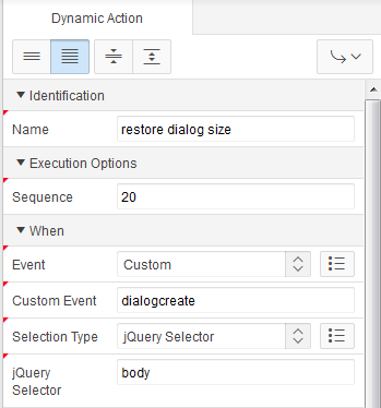 Dynamic Action Settings