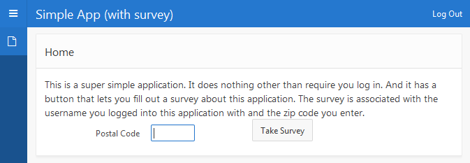 Simple App (with survey)
