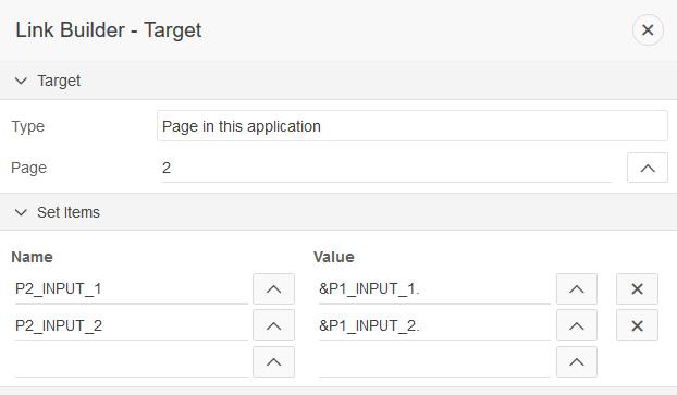 Link Builder Target Dialog